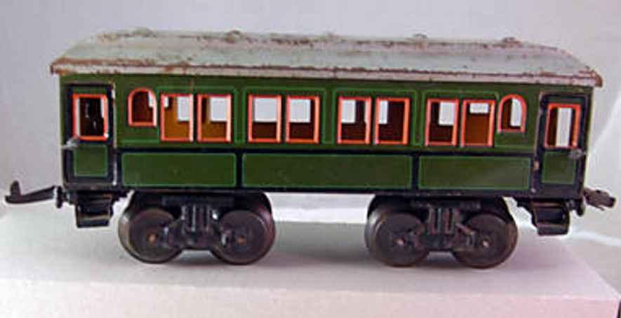 bub 1235 W spielzeug eisenbahn personenwagen gruen spur 0