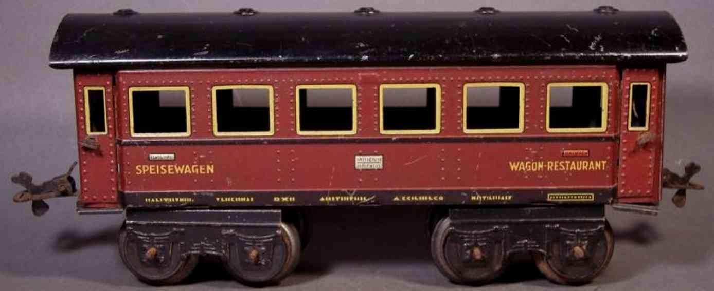 bub 4671/31 spielzeug eisenbahn speisewagen braun spur 0