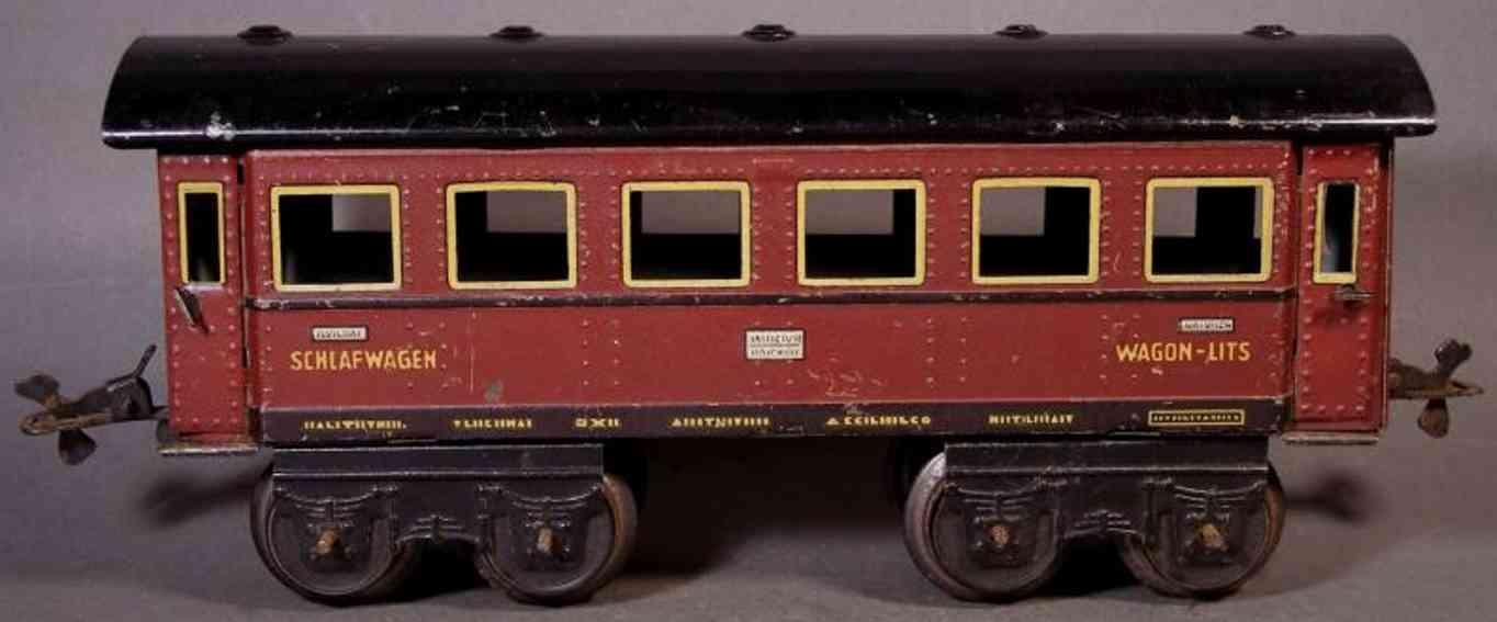 bub 4671/32 spielzeug eisenbahn schlafwagen braun spur 0