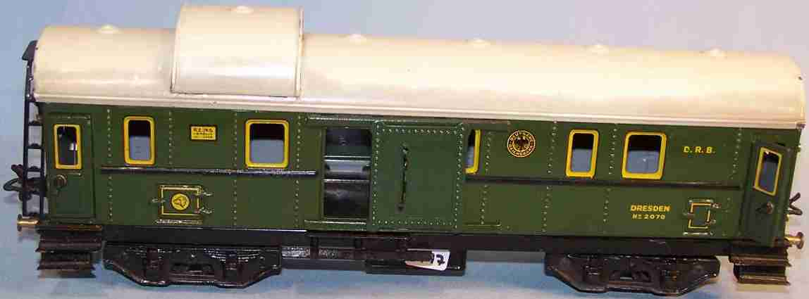 bub 91102 railway toy baggage car green gauge 0