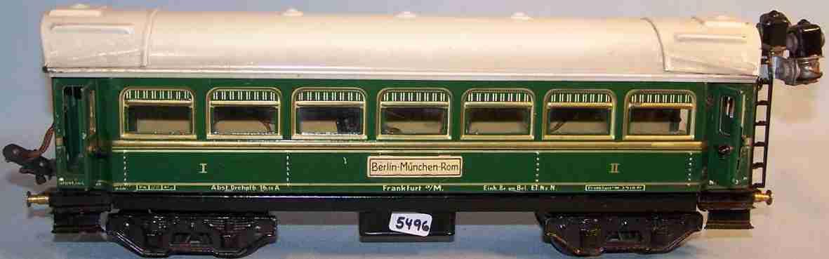 bub 91201 railway toy passenger car green gauge 0