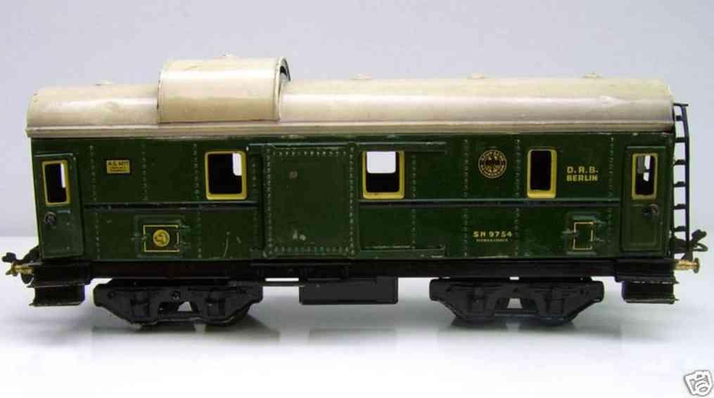 bub 9902 railway toy baggage car green gauge 0