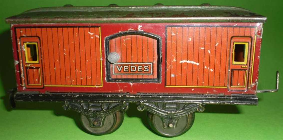bub railway toy baggage car maroon gauge 0