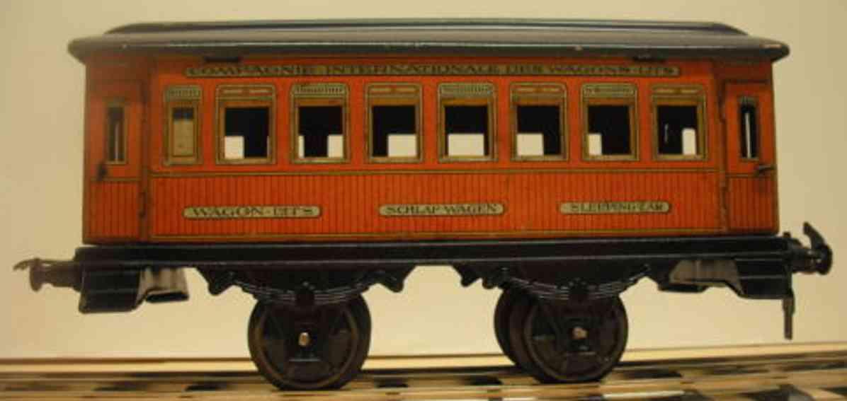 carette 124/7/48 spielzeug eisenbahn schlafwagen  spur 1