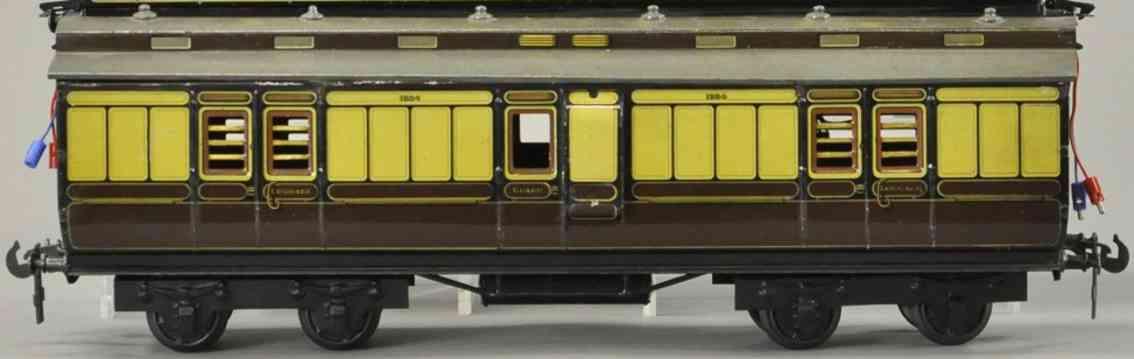 carette 131 db/54 spielzeug eisenbahn gepaeckwagen creme braun spur II