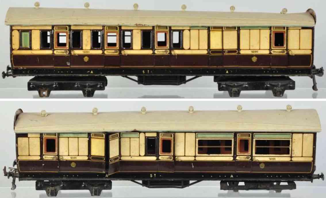 carette 1921 spielzeug eisenbahn personenwagen spur 1