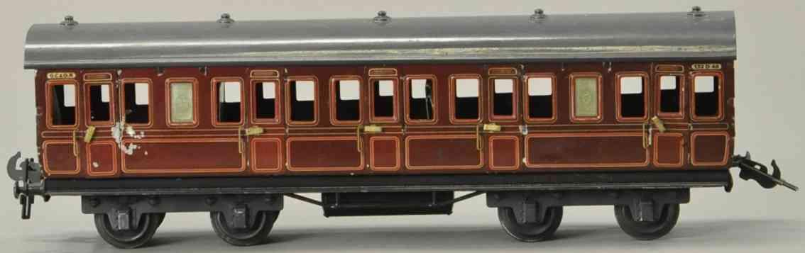 carette spielzeug eisenbahn personenwagen braun grau spur 1