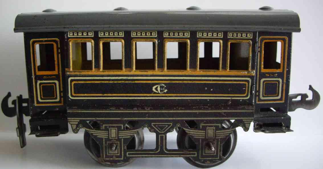 carette spielzeug eisenbahn personenwagen personenwagem; 2-achsig
