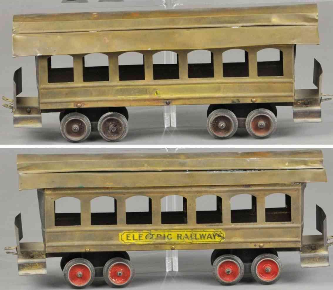 carlisle & finch 13 spielzeug eisenbahn personenwagen messing