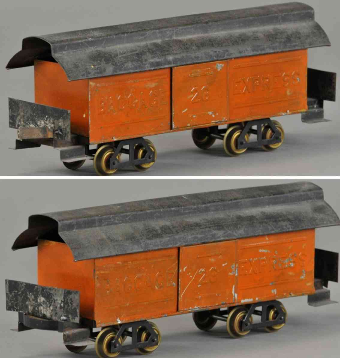 carlisle & finch 13b eisenbahn gepaeckwagen orange schwarz