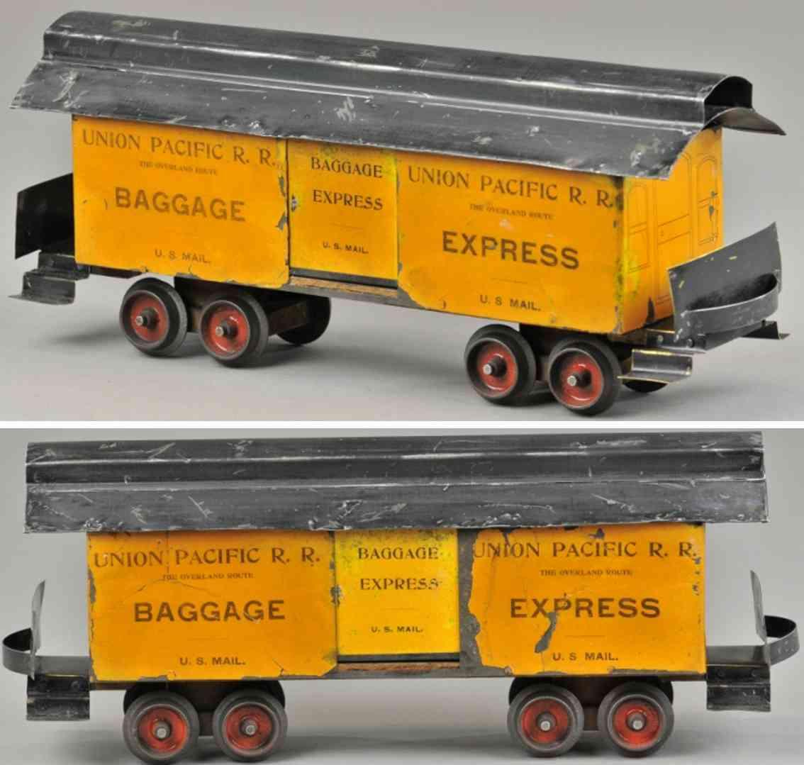 carlisle & finch 13 spielzeug gepaeckwagen orange schwarz