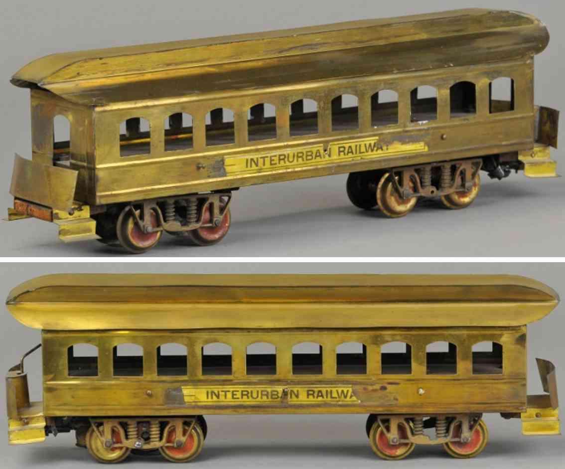 carlisle & finch 2 eisenbahn personenwagen messing 10 fenster