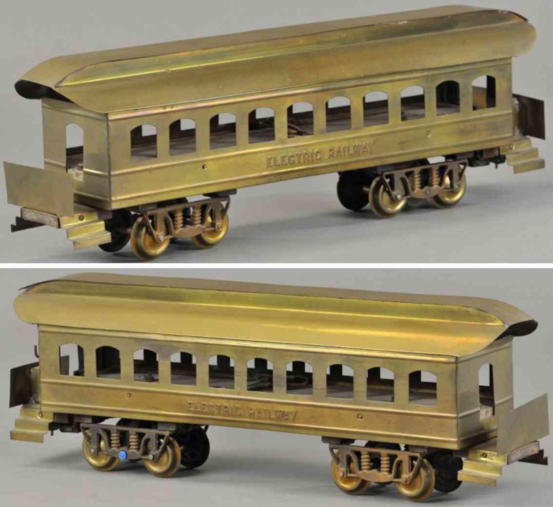 carlisle & finch 2 messing spielzeug eisenbahn personenwagen