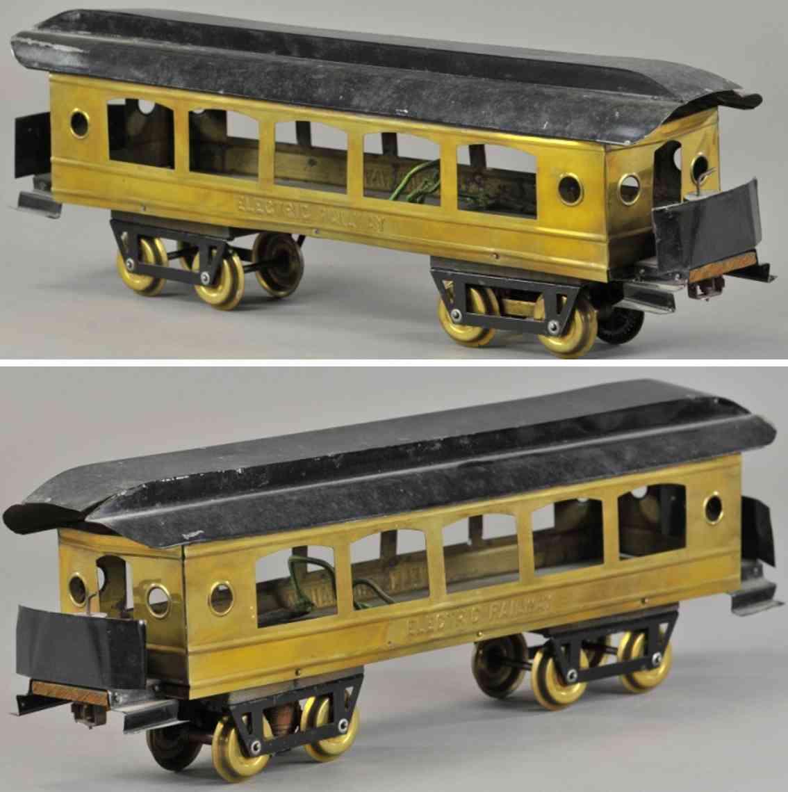 carlisle & finch 2 blech messing eisenbahn personenwagen