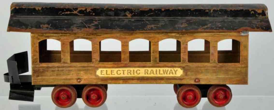 carlisle & finch spielzeug eisenbahn elektrischer personenwagen