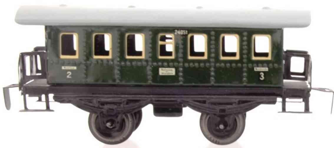 distler johann 14c railway toy passenger car blunderbuss green gauge 0