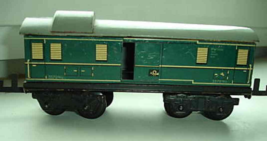 distler johann 257/4 skylight railway toy baggage car green gauge 0