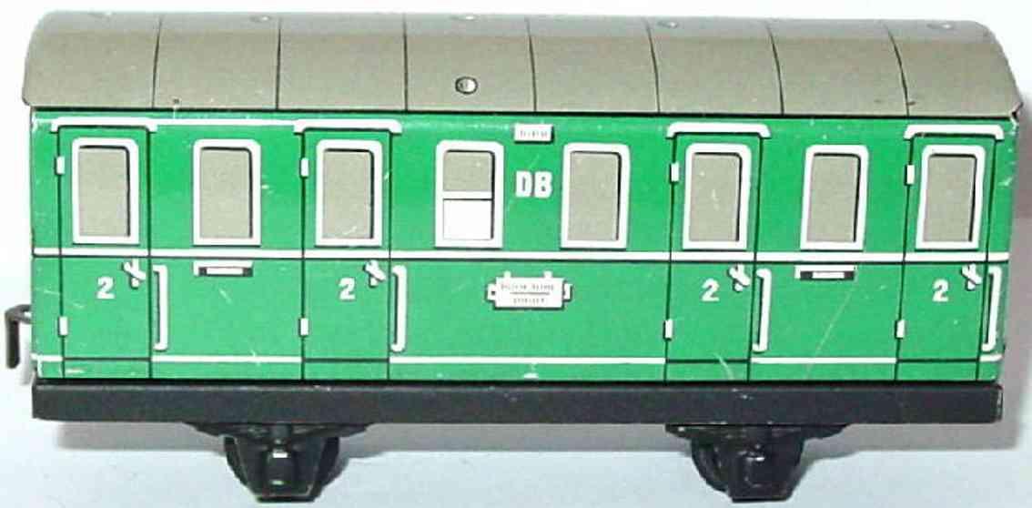 distler johann 523 railway toy passenger car green gauge h0