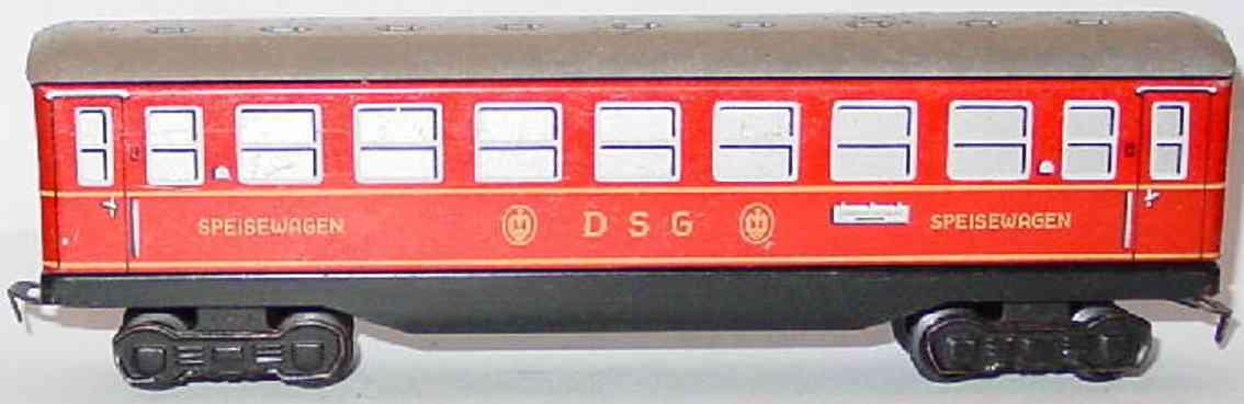 distler johann 529 railway toy dining car red gauge h0
