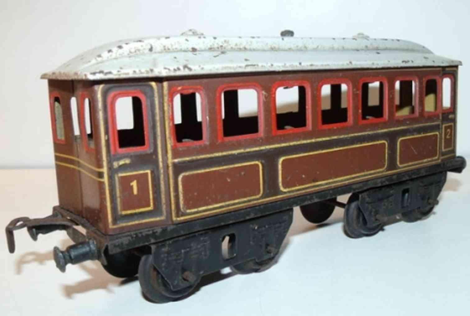 doll 5/582 braun railway toy passenger car 1 2 brown gauge 0