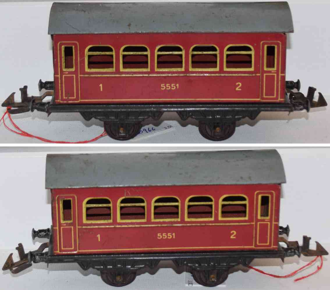 doll 5/551 railway toy passenger car red gauge 0