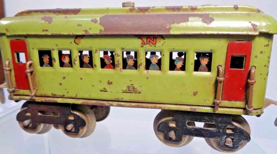 dorfan 490 spielzeug eisenbahn schlafwagen olive gruen spur 0