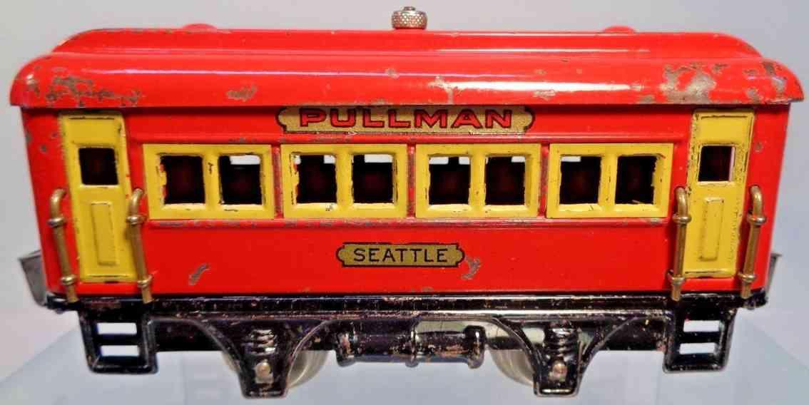 dorfan 498 seattle spielzeug eisenbahn personenwagen schlafwagen rot spur 0