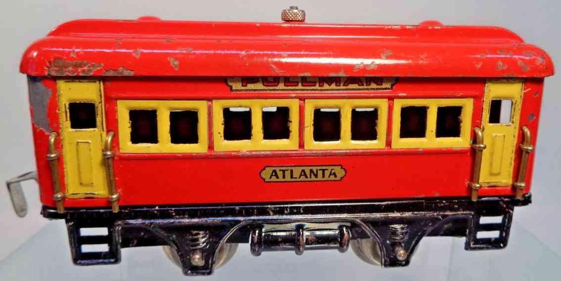 dorfan 498 atlanta spielzeug eisenbahn personenwagen schlafwagen rot spur 0