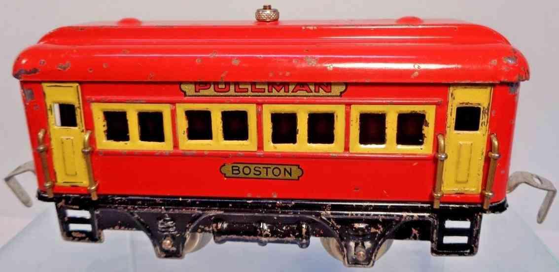 dorfan 498 boston spielzeug eisenbahn personenwagen schlafwagen rot spur 0