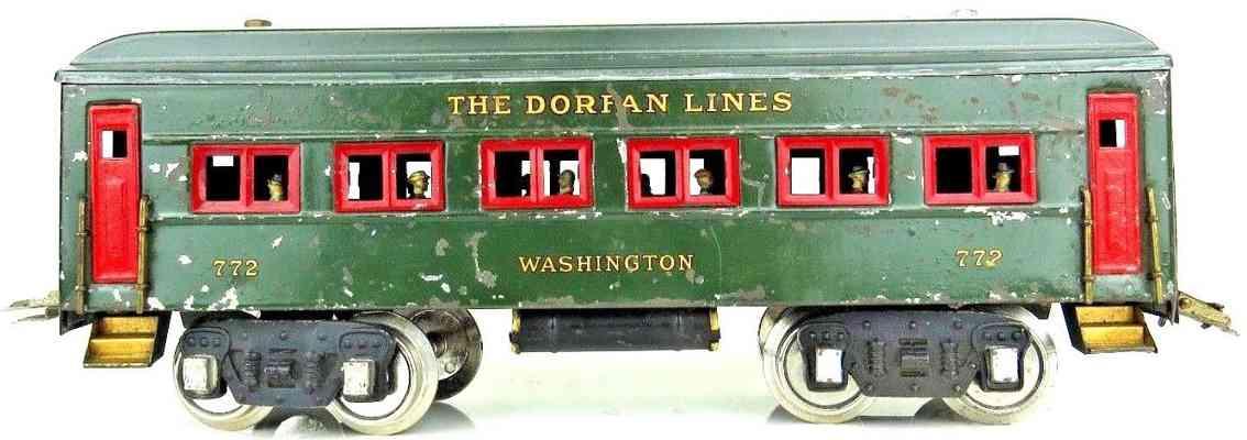 dorfan 772 washington spielzeug eisenbahn personenwagen rot gruen wide gauge