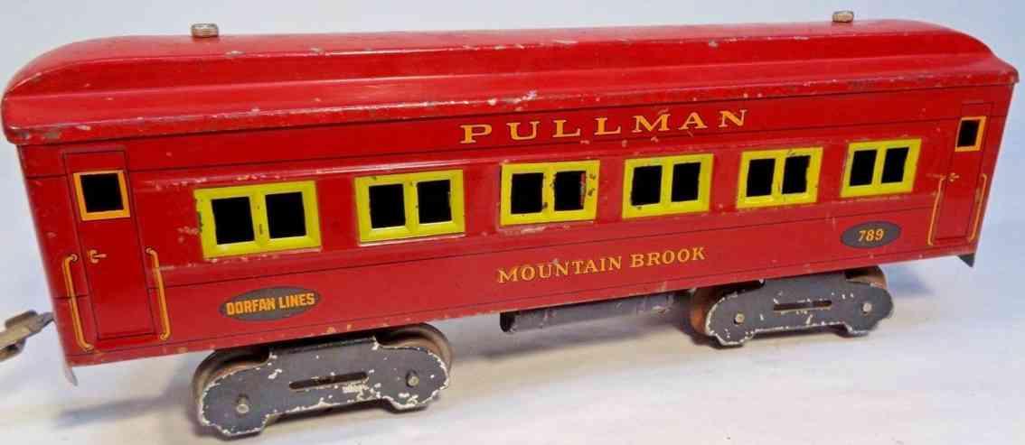 dorfan 789 railway toy metal observation or head-end car wide gauge