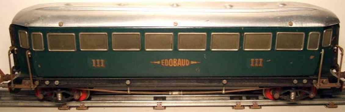 edobaud spielzeug eisenbahn personenwagen dritte klasse wagen; insgesamt wurden 8 unterschiedliche per