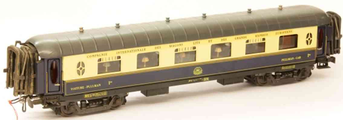 elettren CI P-024 railway toy passenger car pullman car of the ciwl; 4-axis; in blue crème andgray, 4 do