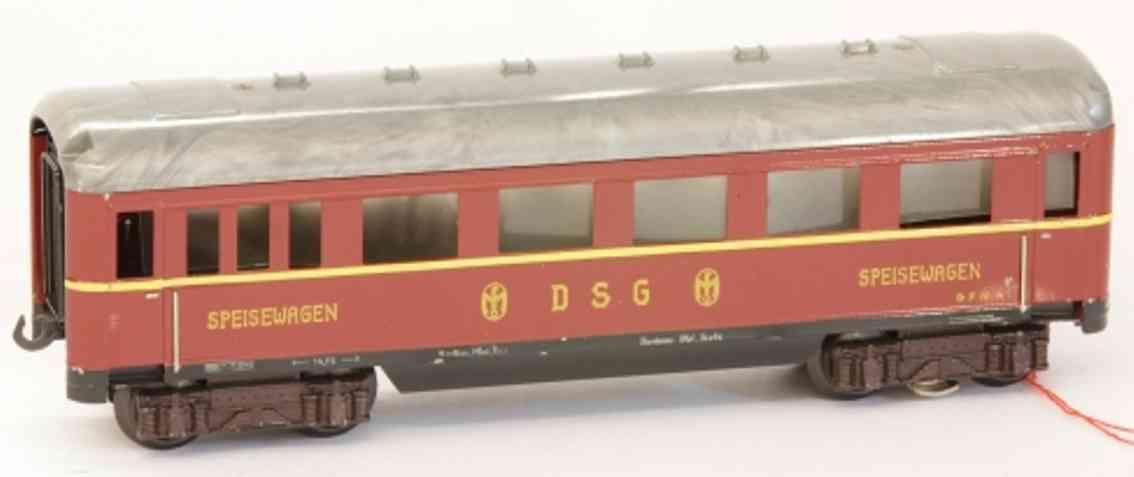 fleischmann 411 j eisenbahn schuerzen-speisewagen rot spur 0