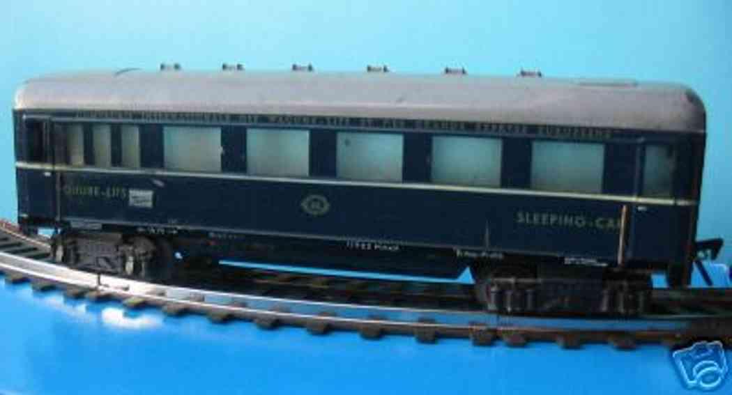 fleischmann 413 spielzeug eisenbahn schlafwagen blau spur 0