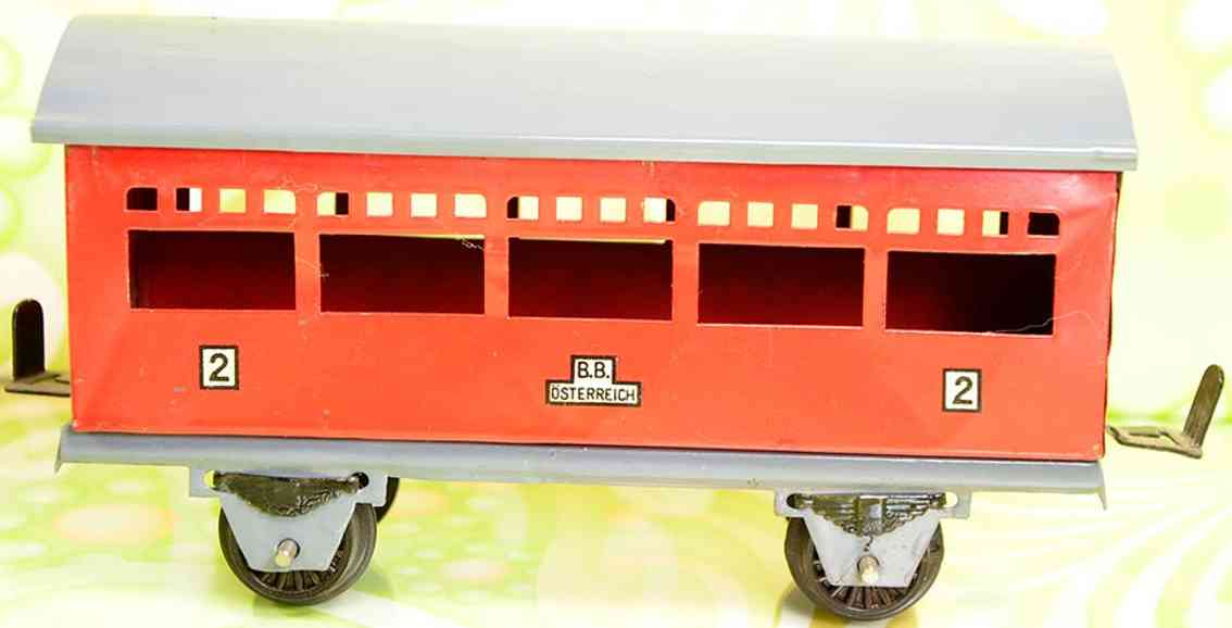 gnadler richard railway toy 2rd class passenger car in red