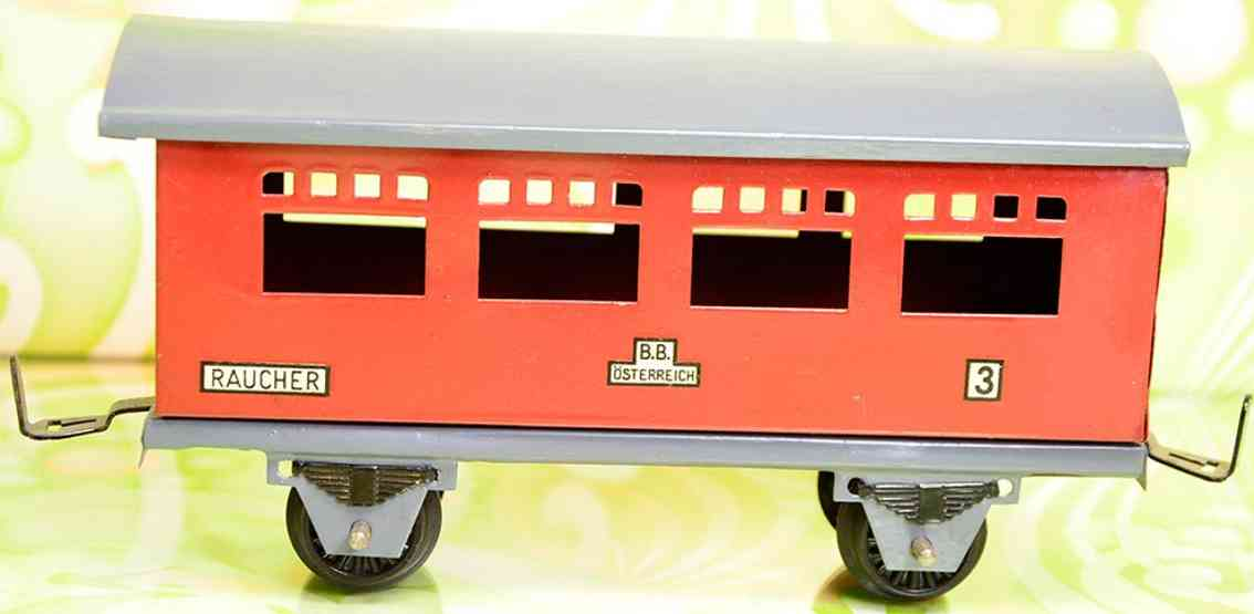 gnadler richard railway toy 3rd class passenger car in red