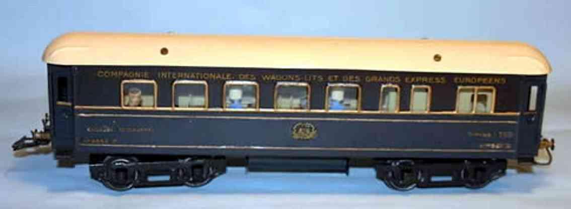 hornby spielzeug eisenbahn personenwagen ciwl speisewagen; 4-achsig; blau, goldumrahmte fenster, dach