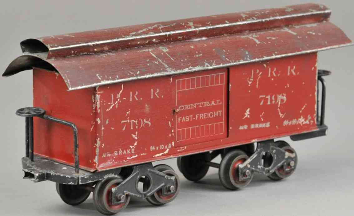 howard electric novelty company 7109 car baggage car red maroon 2 inches