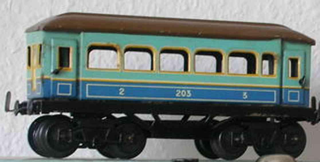 husch 203 spielzeug eisenbahn personenwagen personenwagen; 4-achsig