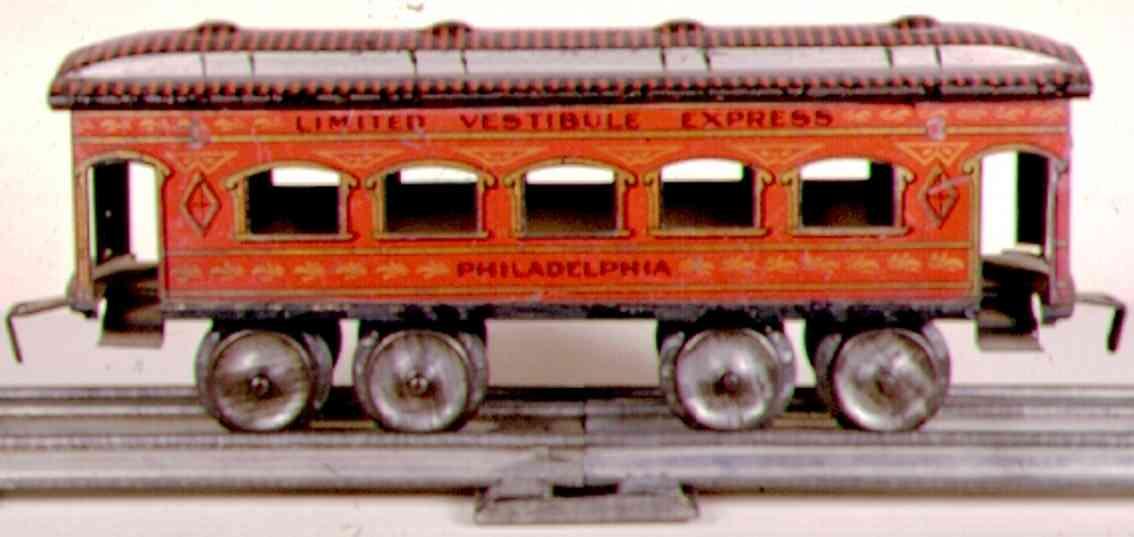 ives 129 1904 philadelphia eisenbahn personenwagen rot schwarz spur 0