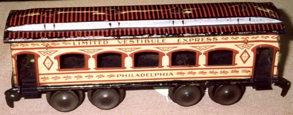 ives 129 1904 philadelphia spielzeug eisenbahn personenwagen creme spur 0