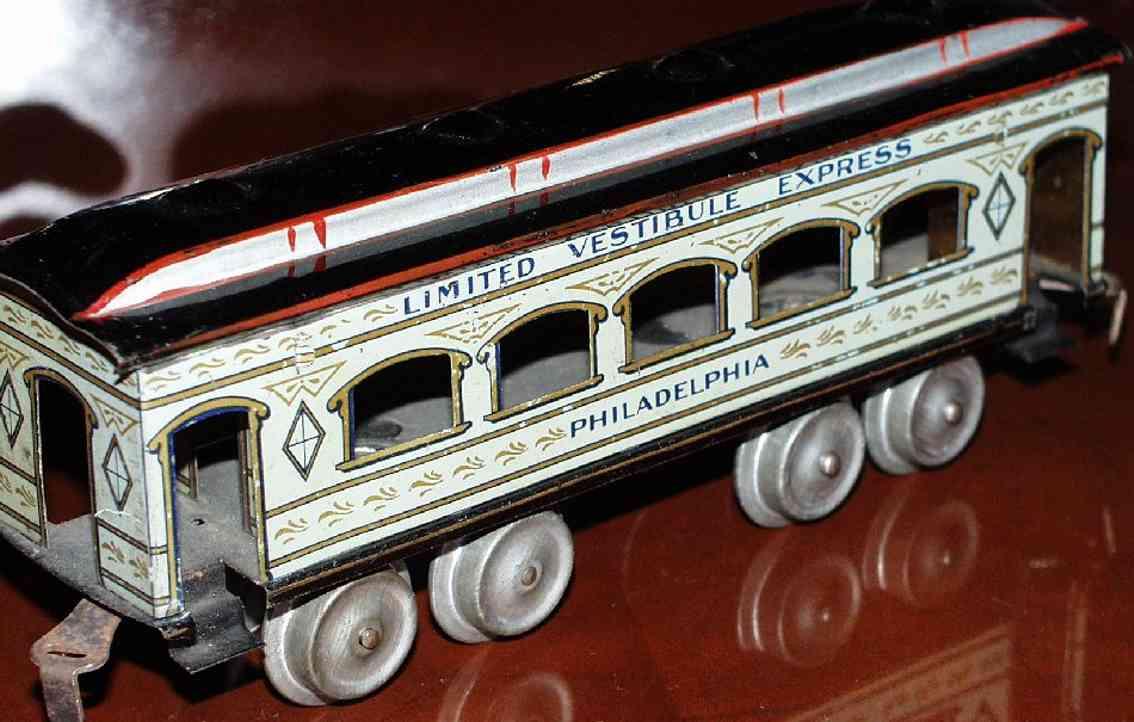 ives 129 1906 philadelphia spielzeug eisenbahn personenwagen weiss spur 0
