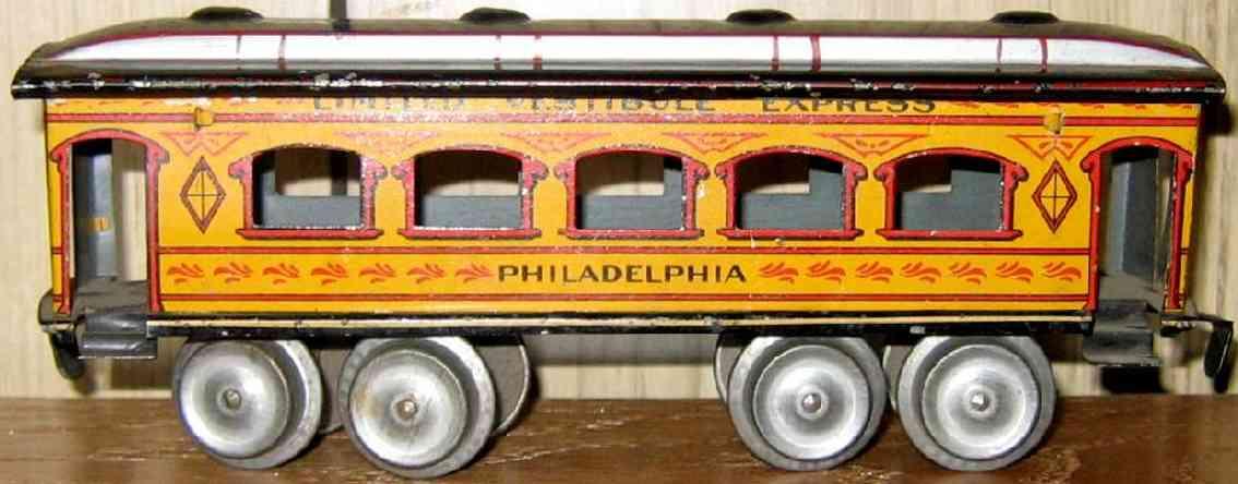 ives 129 1906 philadelphia spielzeug eisenbahn personenwagen spur 0