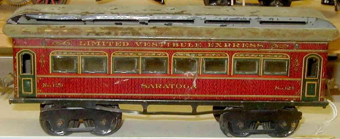 ives 129 1917 philadelphia spielzeug eisenbahn personenwagen rot spur 0