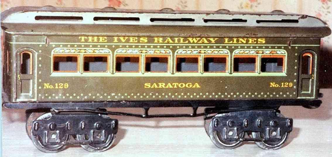 ives 129 1917 philadelphia spielzeug eisenbahn personenwagen gruen spur 0