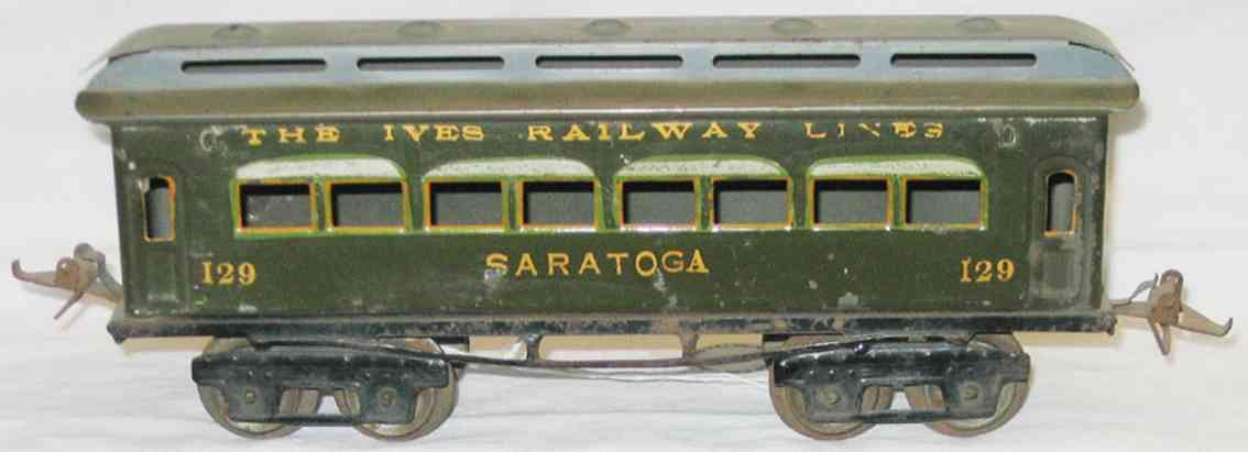 ives 129 1918 philadelphia spielzeug eisenbahn personenwagen oliv gruen spur 0