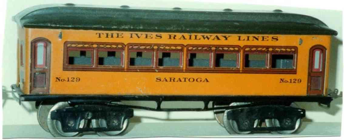 ives 129 1923 philadelphia spielzeug eisenbahn personenwagen orange spur 0