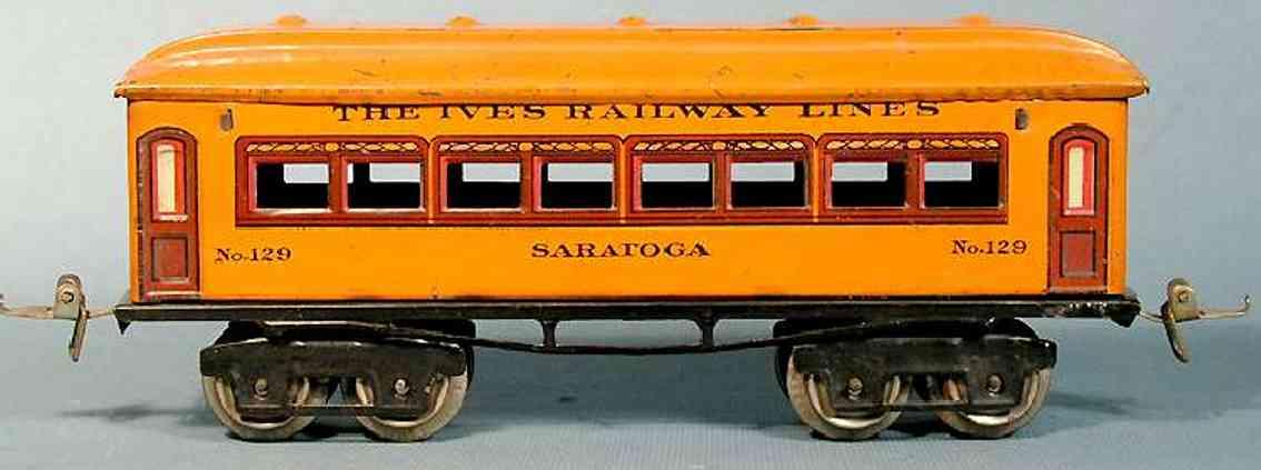 ives 129 1924 philadelphia spielzeug eisenbahn personenwagen orange spur 0