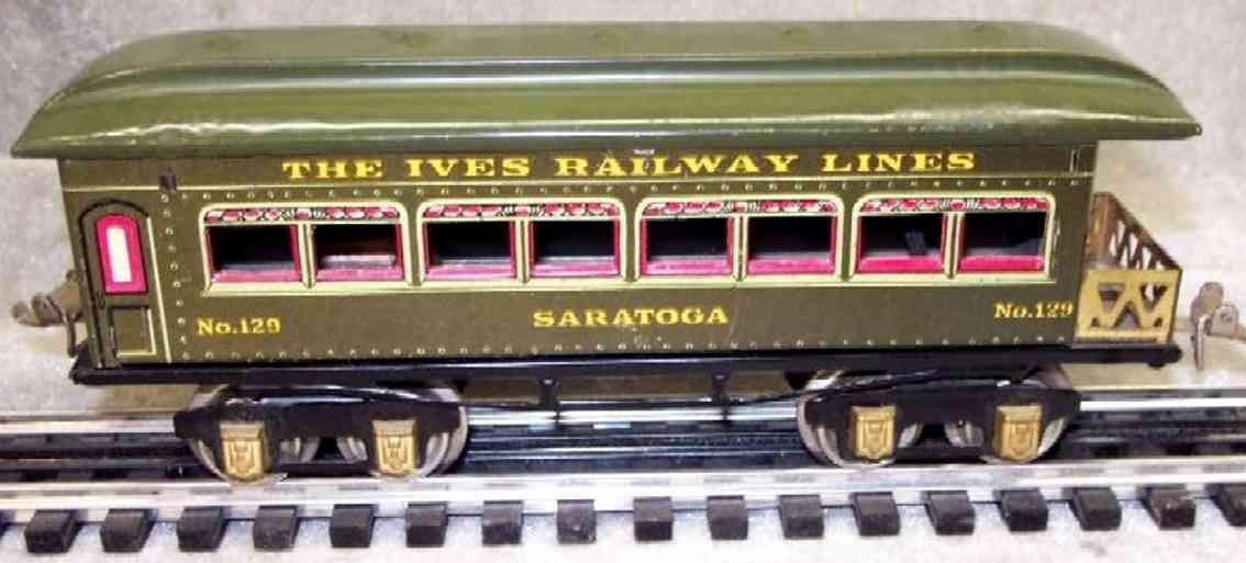 ives 129 1925 philadelphia spielzeug eisenbahn personenwagen gruen spur 0